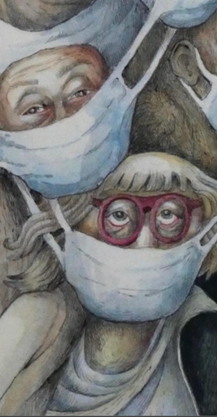"""Gros plan sur """"Les maques"""" de Lisette Delooz"""