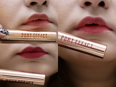 MEMEBOX PONY EFFECT Favorite Fluid Lip Tint Review + SWATCHES - KBEAUTY