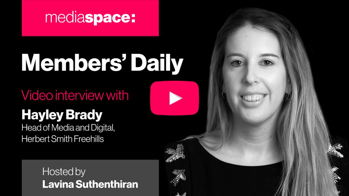 Exclusive video interview with Hayley Brady, Herbert Smith Freehills