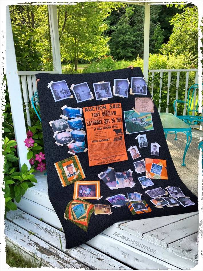 Burclaw Farm Days: Photo Memory Scrapbook Quilt