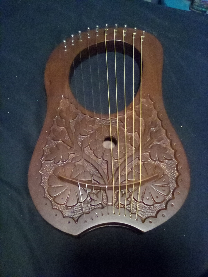 My new Irish lyre