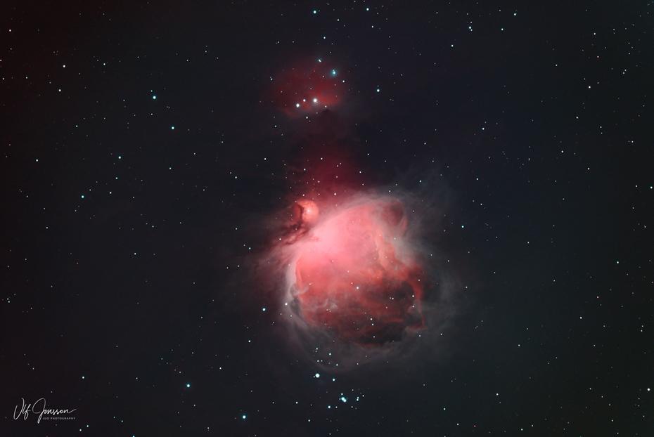 Orionnebulosan M42 med filter