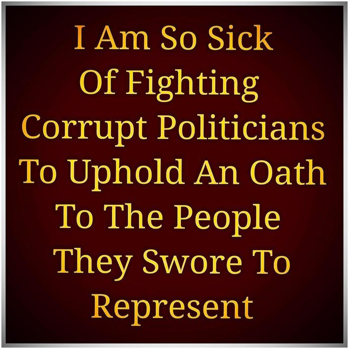 The Voice of the People -Corrupt Politicians