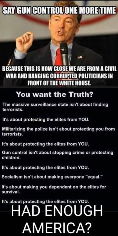 Say Gun Control One More Time - Rand Paul