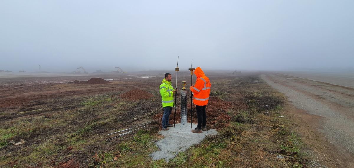 Surveying in Tirana, Albania Airfield