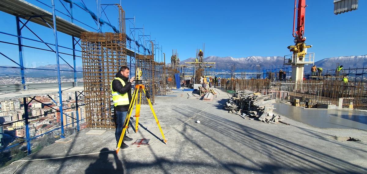 Surveying in Tirana, Albania