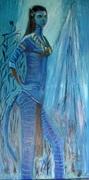 peinture à l'huile Nytéri100 x 50 i