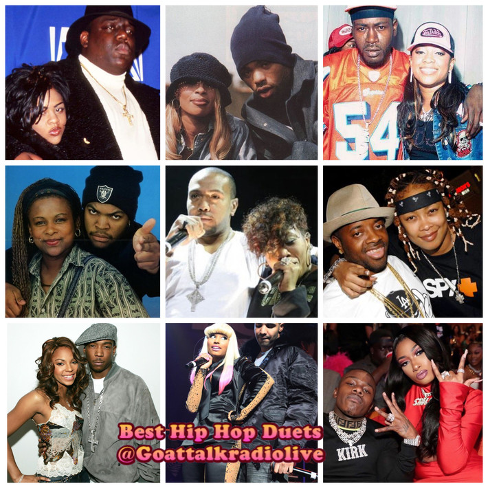 Which Hip Hop Duets Made the  Best Songs? Hosted by @iamxxl x @rockthemicnews!! Special Guest@Phakeem x@iambeckg_va of the@thevinylwordshow Tune on Friday @ 8pm @goatalkradioliveon  @Wuworld! GOAT