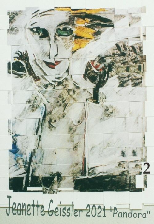 Jeanette Geissler - Pandora Variation 2 -  Collage 2021