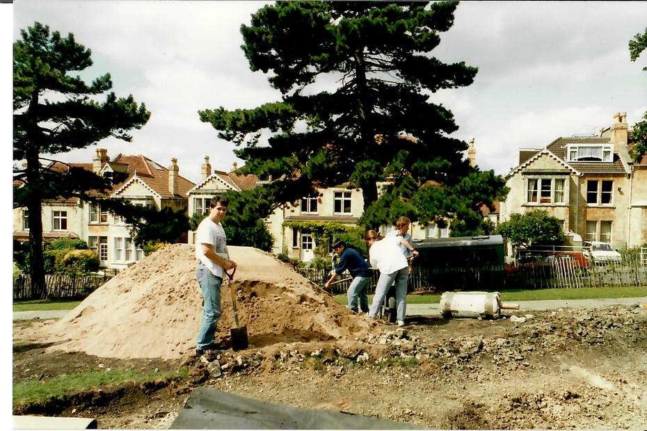 1993 August pond construction 5