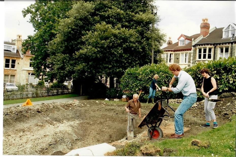 1993 August pond construction 6