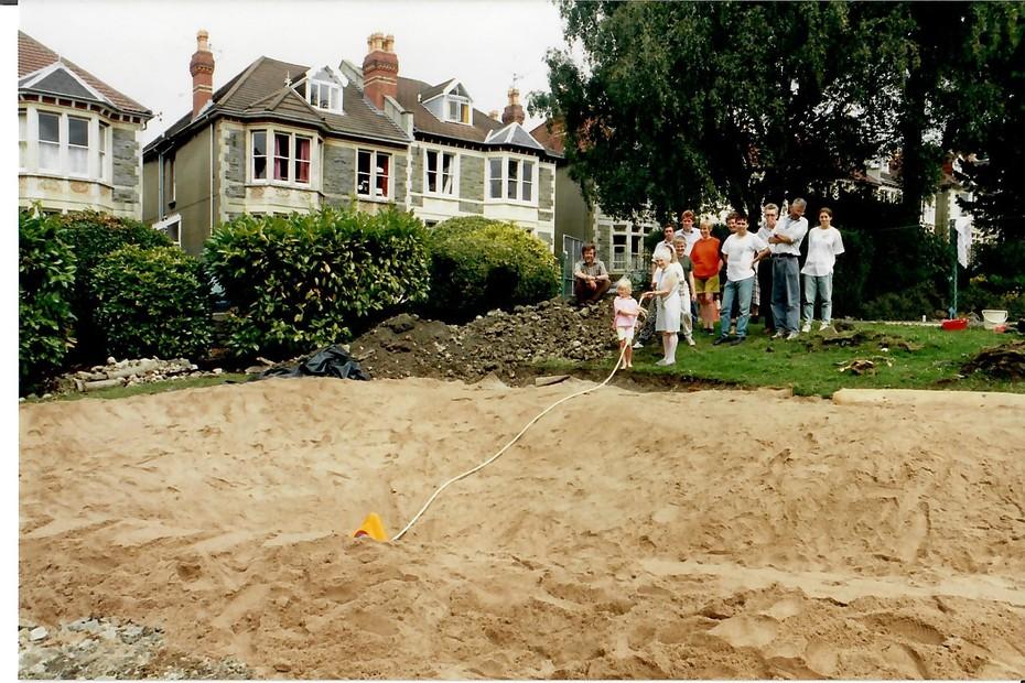 1993 August pond construction 16