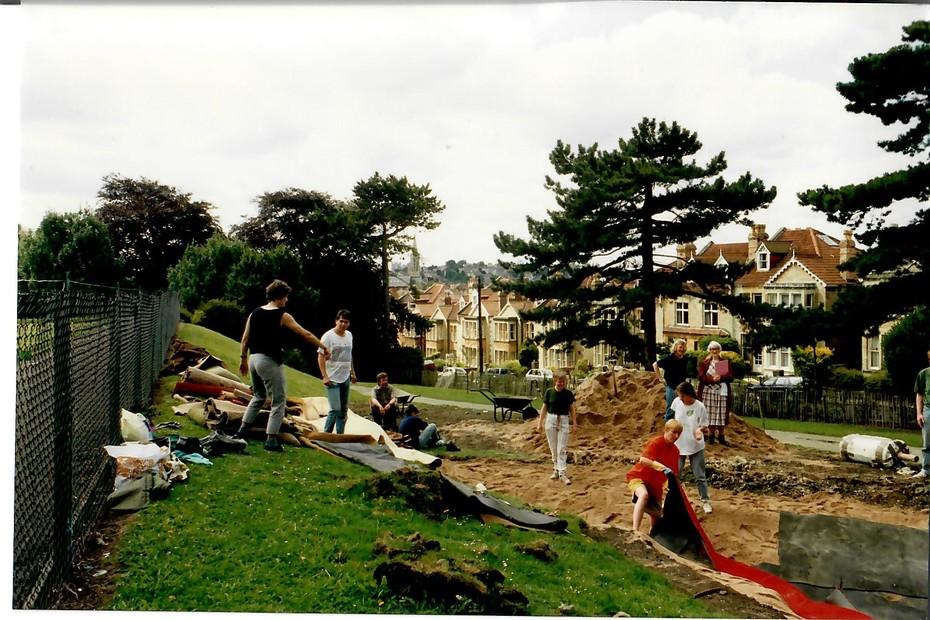 1993 August pond construction 9