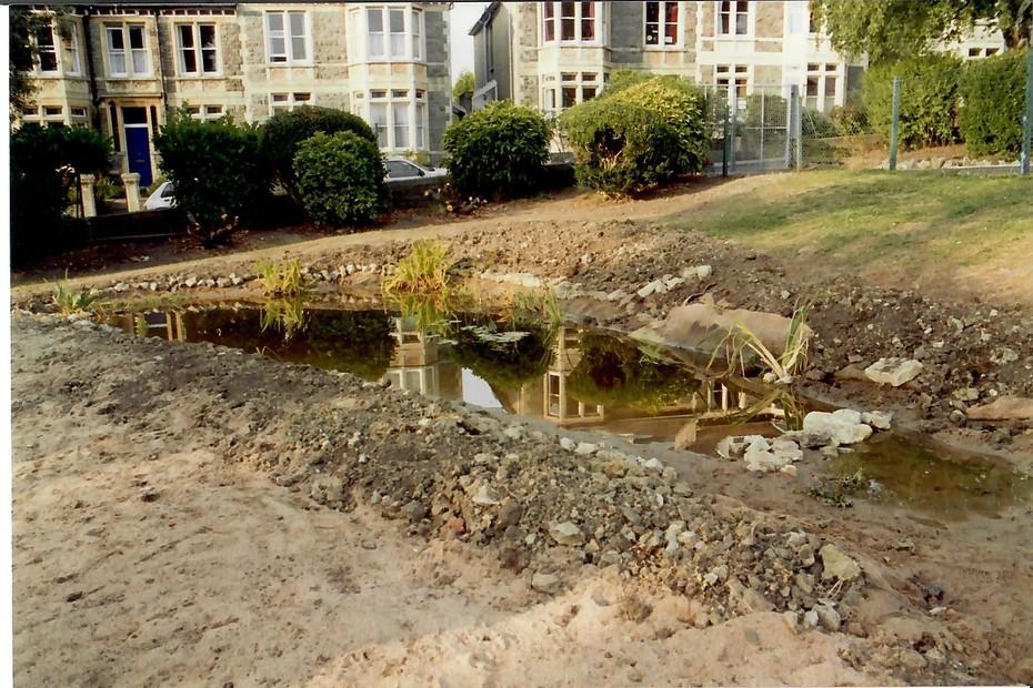 1993 August pond construction 19