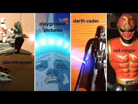red ranger meet the black power episode 1, stop motion red ranger power rangers star wars film