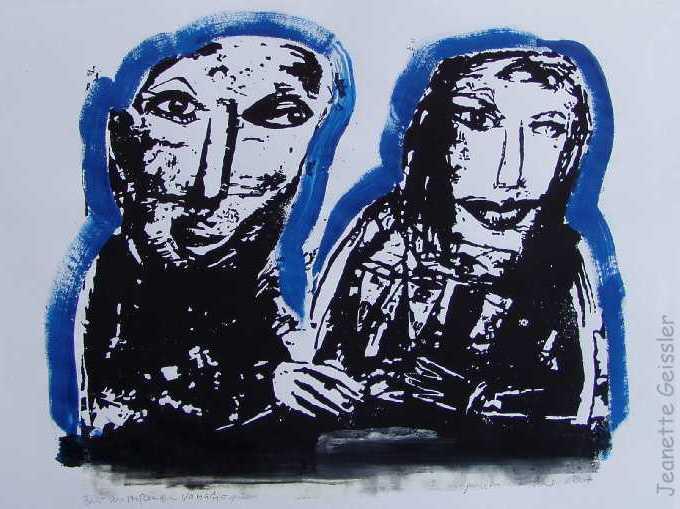 Jeanette Geissler - Paar anstoßend - couple toasting