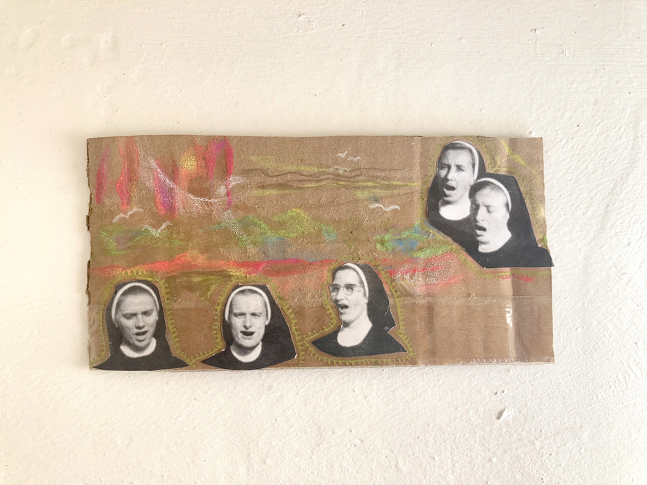 Nuns in a neon landscape for Jarred