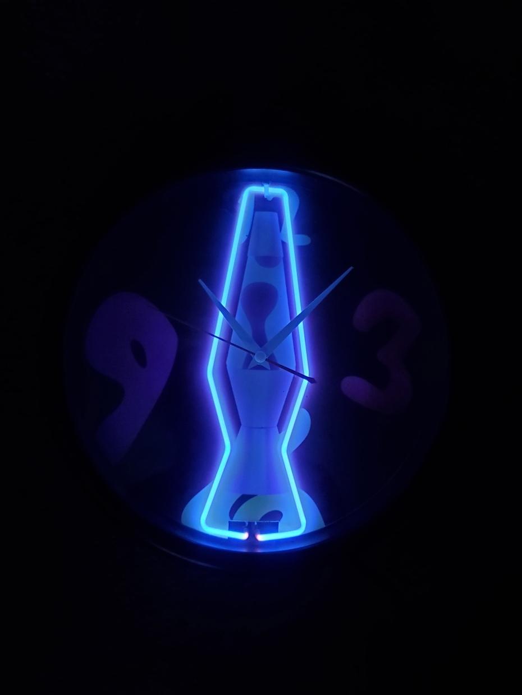 Lava Lite Neon Clock