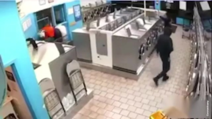 Laundromat robbery in the Bronx