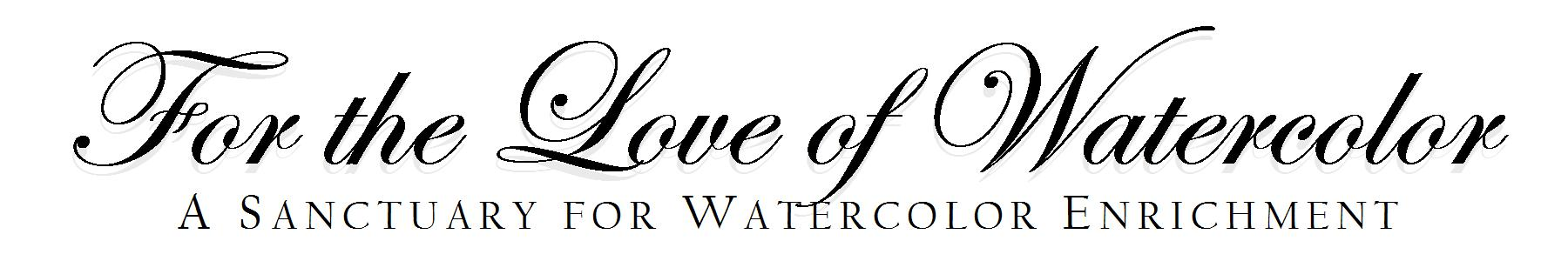 For the Love of Watercolor Logo