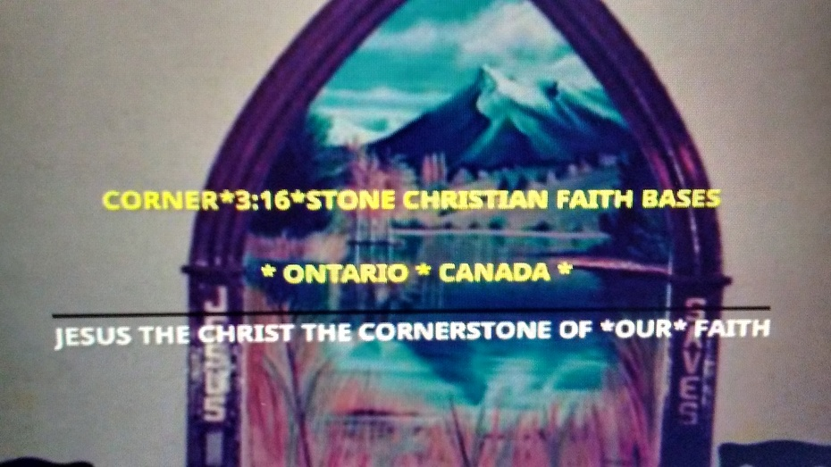 CORNER*3:16*STONE CHRISTIAN FAITH BASE ONTARIO CANADA PHOTO