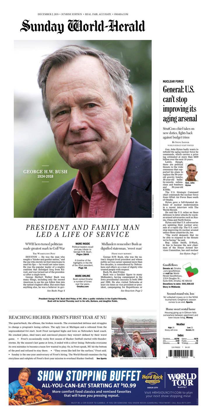 George H.W. Bush dies at 94