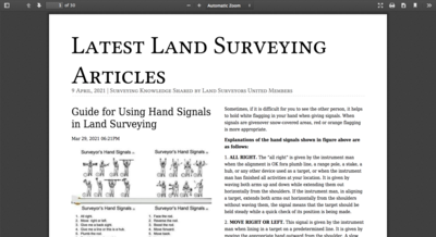 Collection of Surveying Articles to Learn Something New