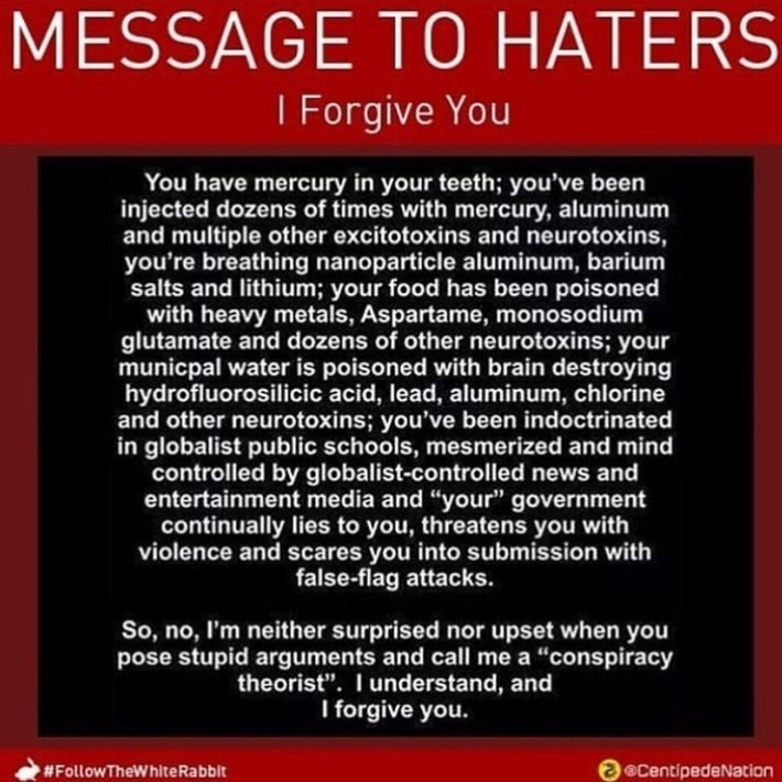 MESSAGE TO HATERS - I Forgive You