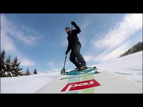 Stand Up Paddle on Snow - Slovenia