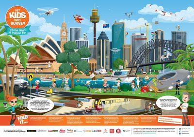 Sydney Poster Get Kids Into Surveying