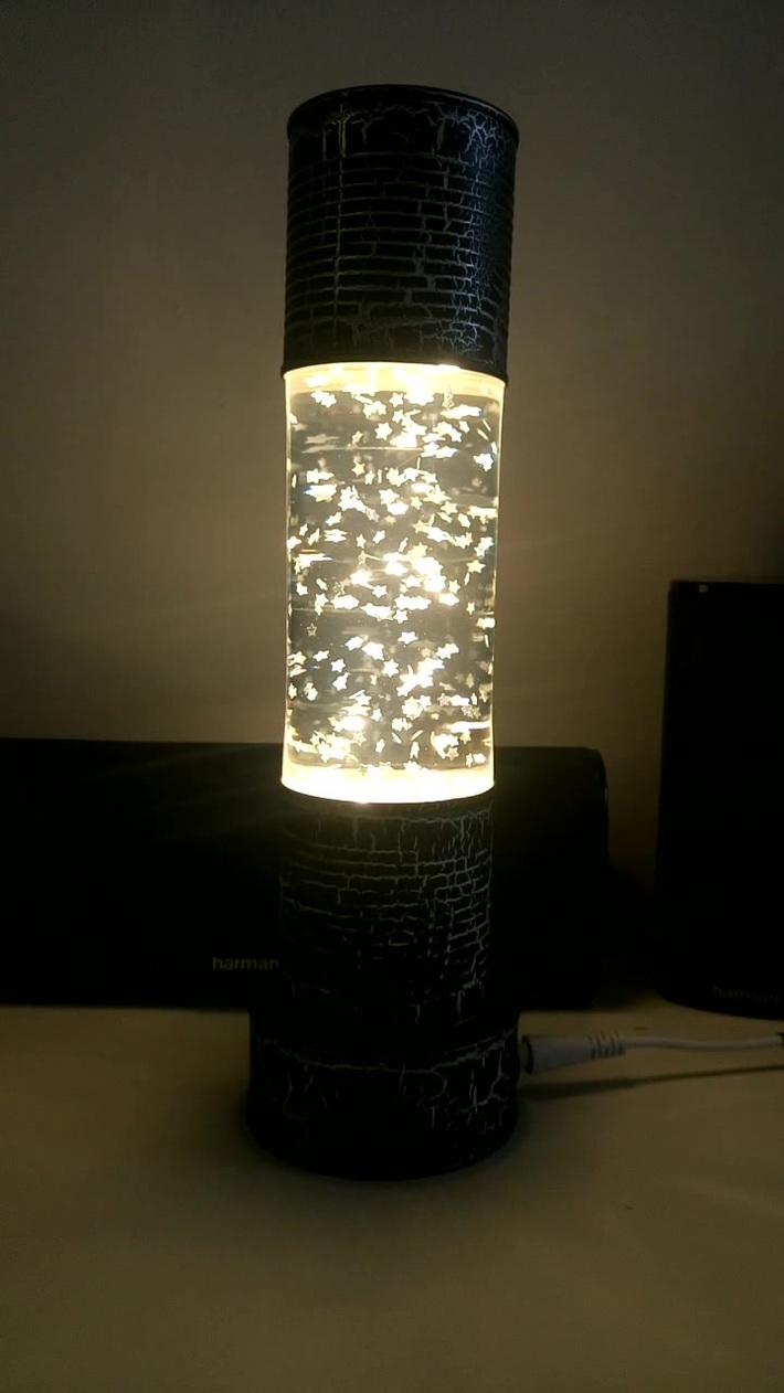 Home Made Glitter Lamp