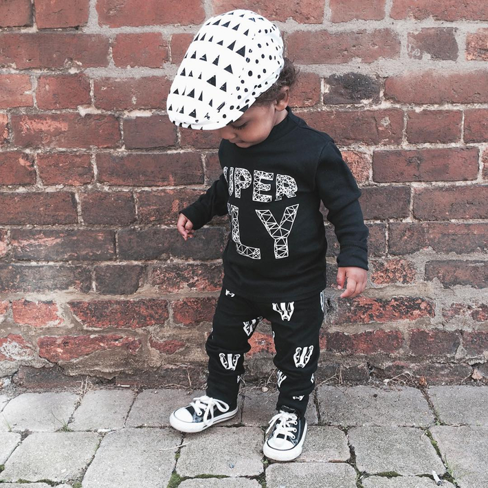 Cool Black and White Cap for Baby Boys