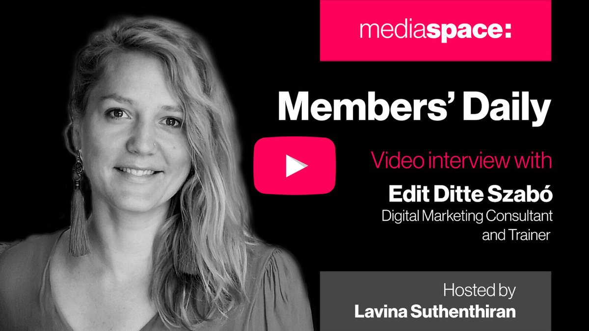 Exclusive video interview with Edit Ditte Szabo, Consultant