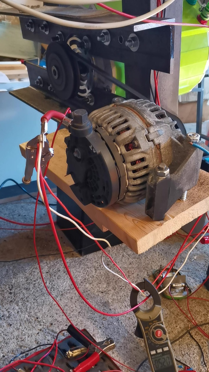 Motor test with load