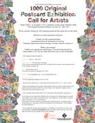 """1000 Original Postcard Exhibition"" - Call for Artists"