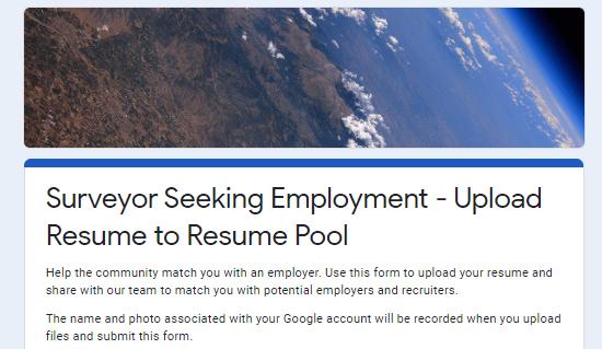 Upload Your Surveying Resume