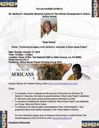 Mr. Sanford A. Alexander Memorial Centre for Pan African Development & Culture