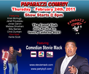 Stevie Mack featured at Paparazzi Comedy