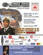 Urban Issues Breakfast Forum with L.A. County Fire Chief Daryl Osby
