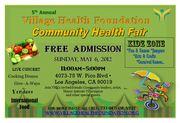 The Village Health Foundation's 5th Annual Community Health Fair!!