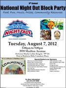 LAPD Southwest Area National Night Out 2012