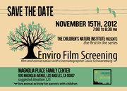 Enviro Film Screening with Louie Schwartzberg