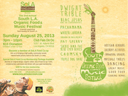 SoLA Food Co-op presents: 2nd Annual Organic Food and Music Festival