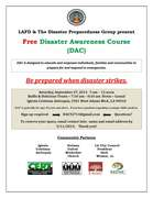 LAFD & the Disaster Preparedness Group (DPG) present free Disaster Awareness Course (DAC) - 9/27/2014