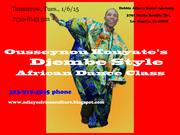 Ousseynou Kouyate will teach Djembe style African Dance