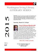 WASHINGTON IRVING LIBRARY - 2015 LITERARY SERIES