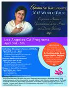 Amma Sri Karunamayi 2015 Los Angeles Tour