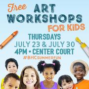 FREE Art Workshops for Kids at Baldwin HIlls Crenshaw Plaza