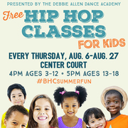 Free Hip Hop Dance Classes for Kids at Baldwin Hills Crenshaw Plaza, presented by The Debbie Allen Dance Theater