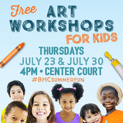 FREE Art Workshops for Kids at Baldwin HIlls Crenshaw Plaza